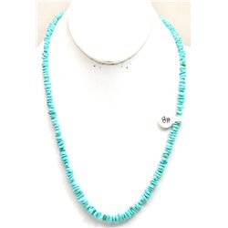 Navajo # 8 Number Eight Turquoise Sterling Silver Necklace
