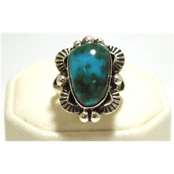 Navajo Royston Turquoise Sterling Silver Women's Ring - Mary Ann Spencer