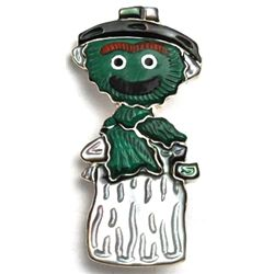 Zuni Oscar the Grouch Pendant & Pin - Andrea Shirley