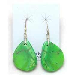 Navajo Green Turquoise Stone Earrings
