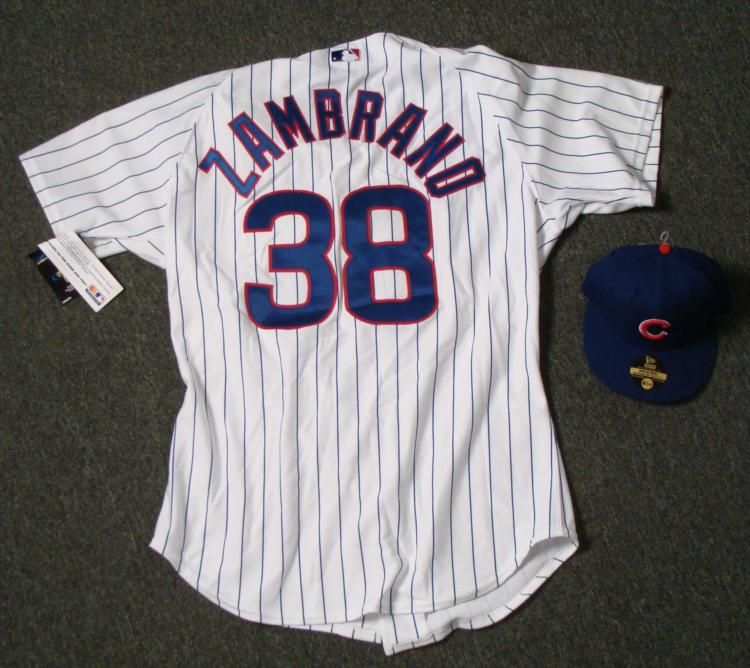 Image 1   Authentic Chicago Cubs Carlos Zambrano Jersey and Hat ... 819b09bf6e5