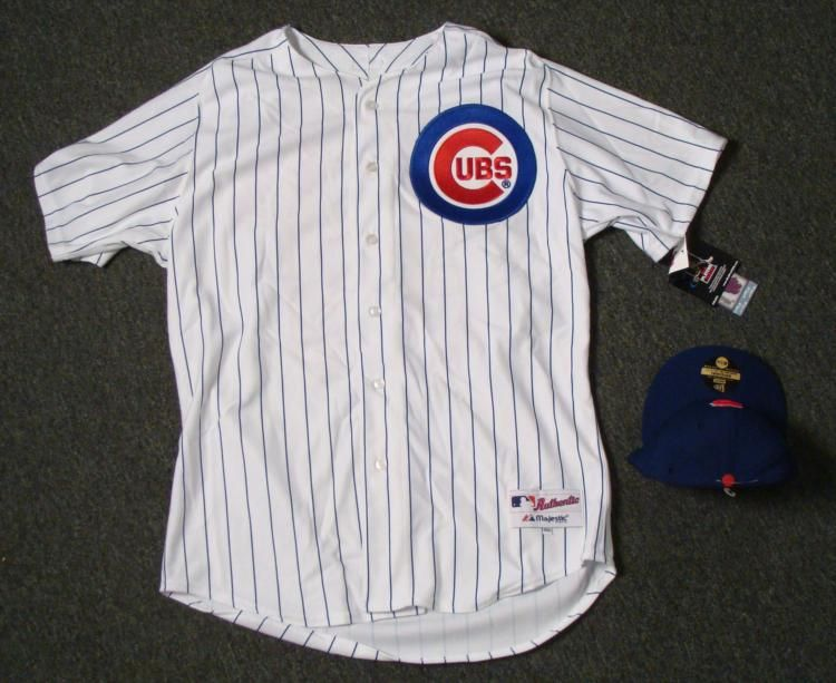 ... Image 2   Authentic Chicago Cubs Carlos Zambrano Jersey and Hat ... ab0758efa56
