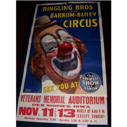 RINGLING BROS. & BARNUM & BAILEY CIRCUS POSTER, CLASSIC LITHOGRAPH 50TX 28W