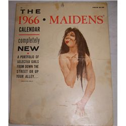"VINTAGE 1966 ""THE MAIDENS"" CALENDAR . ENROL PUBLISHING CO."