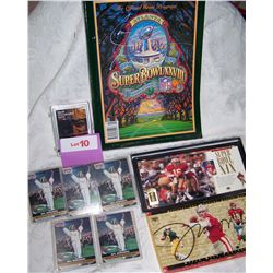 MULTI-PIECE NFL & SUPER BOWL COLLECTIBLE LOT