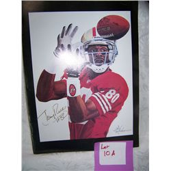 SAN FRANCISO 49ERS HALL OF FAMER JERRY RICE #80  AUTHENTIC SIGNED PICTURE