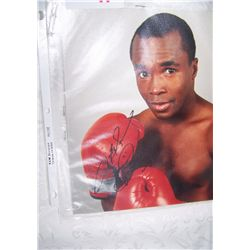 SUGAR RAY LEONARD HALL OF FAMER, AUTHENTIC SIGNED PICTURE