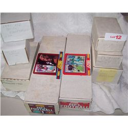 HUGE MULTI-PIECE NFL TRADING CARD LOT; LOT OF 52 TOPPS SUPER FOOTBALL CARDS, LOT OF 6 90 &91 CARDS