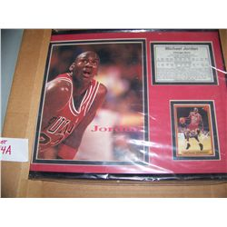 MICHEAL JORDAN LIMITED EDITION PHOTO DISPLAY, FRAMED