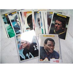 ASSORTED LOT OF CLASSIC 1980 NFL TOPPS OVERSIZE COLLECTIBLE CARDS