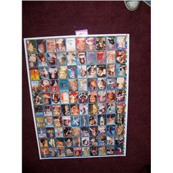 RARE 1993 MARILYN MONROE COMPLETE 100 CARD SET UNCUT SHEET