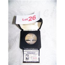 RARE 1996 CHICAGO BULLS CHAMPIONSHIP COIN #4250/7000 ONE OUNCE PURE .999SILVER