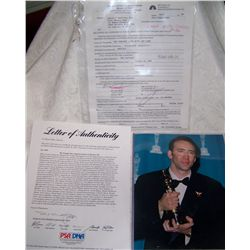 RARE NICHOLAS CAGE HANDSIGNED TONIGHT SHOW WITH JAY LENO CONTRACT W/ PSA/DNA CERTIFICATION