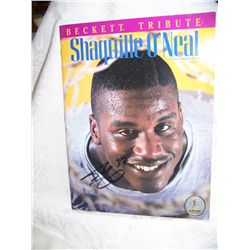 SHAQUILLE ONEAL SIGNED BECKETT TRIBUTE MAGAZINE