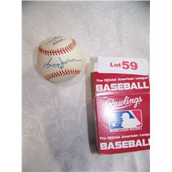 REGGIE JACKSON SIGNED AMERICAN LEAGUE BASEBALL