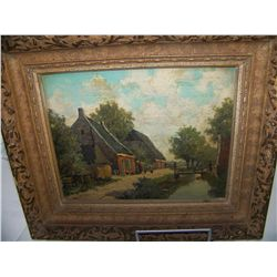 GAETANO MARTINI (Italian 1840-1917)  ORIGINAL OIL ON CANVAS, image 8t x 10w .FRAMED PAINTING