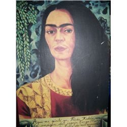 FREDA KAHLO SELF PORTRAIT, FINE ART REPRODUCTION ON CANVAS