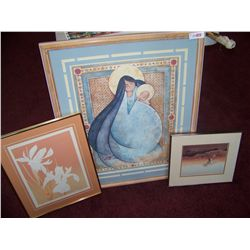 (3) PIECE FINE ART FRAMED LOT