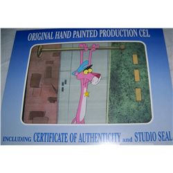 PINK PANTHER ORIGINAL HAND PAINTED PRODUCTION CEL W/ STUDIO SEAL