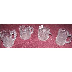 LOT OF (4) COLLECTIBLE MC DONALDS GLASSES