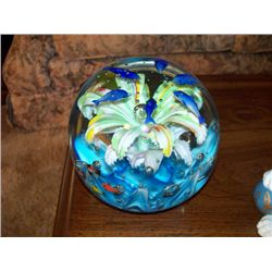 2 PC. GLASS PAPER WEIGHTS