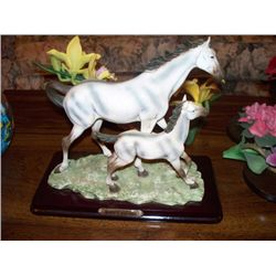 RUBY'S COLLECTION, DAPPLE MARE AND FOAL FIGURINE