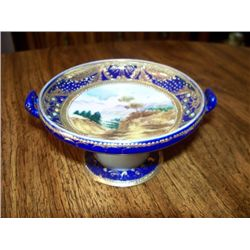 "2.5"" FOOTED NIPPON MINT DISH"
