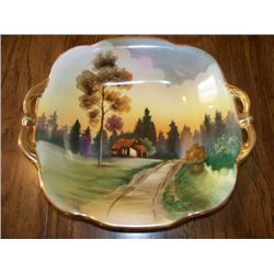 NIPPON 2 HANDLE BOWL W/FARM SCENE