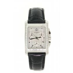 WATCH:  (1) Stainless steel Gent's Baume & Mercier Hampton Chronograph automatic watch, with a silve