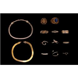 RINGS: (2) 10ky high school rings; incl lady's (1965), black onyx & men's (2007) w/ synthetic spinel