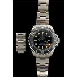 WATCH: (1) Rolex Sea-Dweller Deep Sea series with Date stainless steel with black dial. Bracelet 982