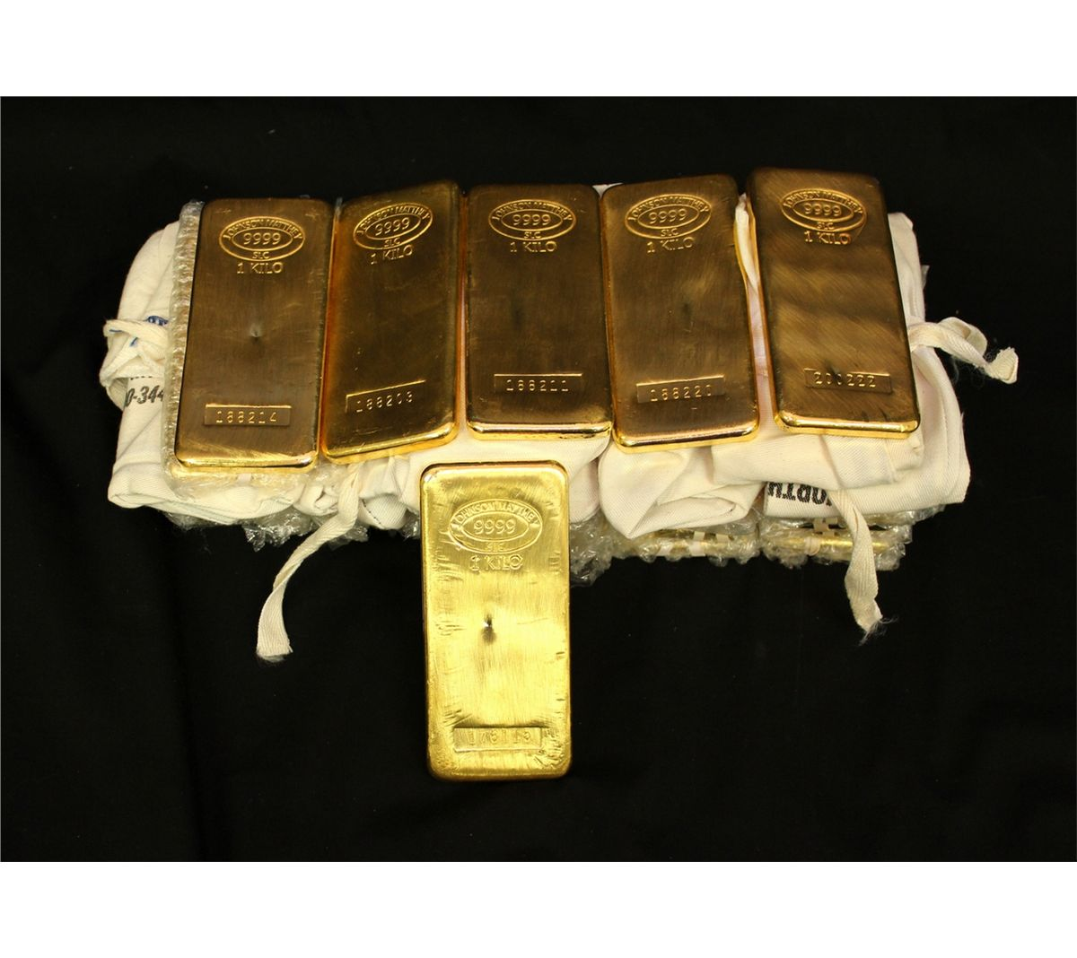 Bullion 32 Johnson Matthey 1 Kilo 1000 Grams Ea Gold