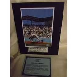 Sandy Koufax Autographed Matted COA