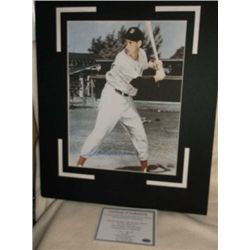 Ted Williams Autographed Matted With COA