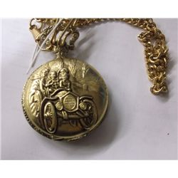 Gold Tone Pocket Watch Model A & Family