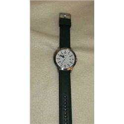 Ladies Timex Watch Black Leather Band