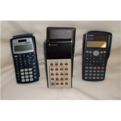 3- pocket calculators with Cases