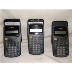 3- Pocket Calculators in case