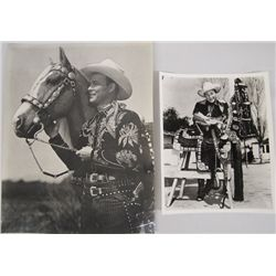 Two Photographs of Roy Rogers