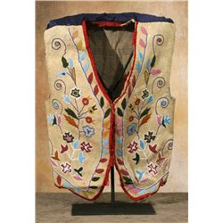 Santee Sioux Beaded Vest