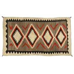 "Navajo Transitional Era Weaving, 7'8"" x 4'4"""