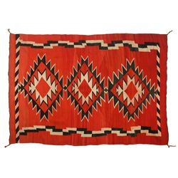 "Navajo Transitional Weaving, 7'2"" x 5'1"""