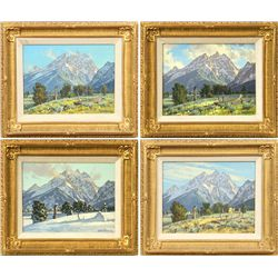 Lanny Grant, Series of 4 oils on board