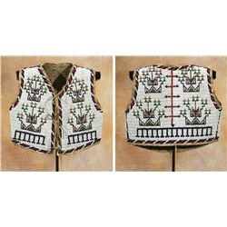 Sioux Fully Beaded Child's Vest