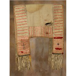 Lakota Sioux Quilled Saddle Blanket