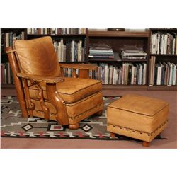 Sweet Water Ranch Club Chair and Ottoman, Thomas Molesworth