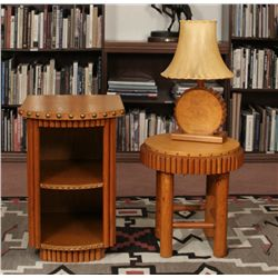 Sweet Water Ranch End Tables and Lamp, Thomas Molesworth