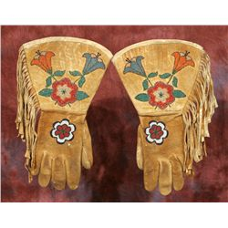 Crow Beaded Gauntlets