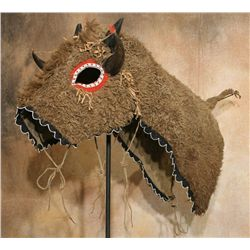 Lakota Buffalo Hide Horse Mask