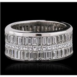 Platinum 10.16ctw Diamond Ring